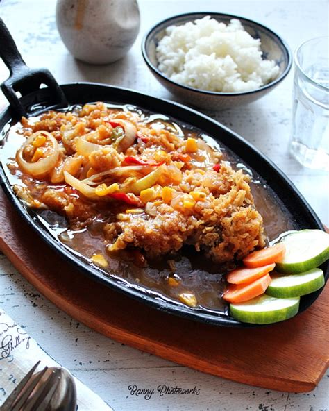 resep ayam geprek asam manis hot plate hujanpelangi blog