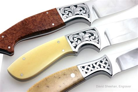engraved knife engraved custom knives david sheehan engraver