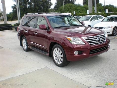 red lexus 2008 2010 noble spinel red mica lexus lx 570 22588621
