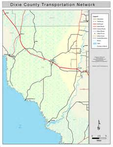 dixie county florida map dixie county road network color 2009