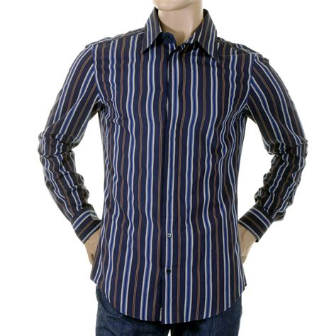 d g mens shirt dolce gabbana blue striped shirt rs0119