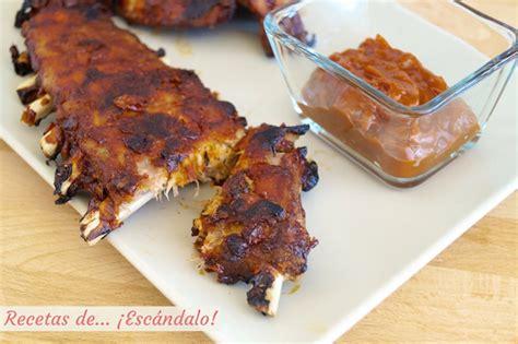 como cocinar costillas de cerdo al horno costillas de cerdo al horno con salsa barbacoa casera