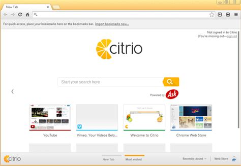 citro browser 5 alternate web browsers for windows you should give a try