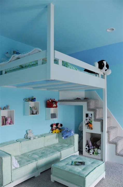 20 awesome loft beds for small rooms house design and decor blue hanging loft bed for kids
