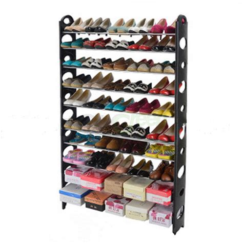 10 Tier Shoe Rack 50 Pair Wall Bench Shelf Closet