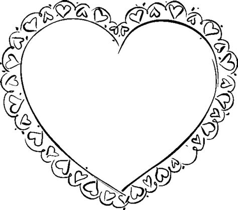 valentines heart coloring pages
