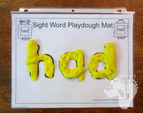 printable playdough sight word mats all new romping roaring first grade sight word packs 3
