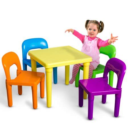 kids indoor table and chairs oxgord kids table and chairs play set for child