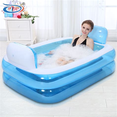 foldable bathtub for adults inflatable bathtub folding tub thickening adult bathtub