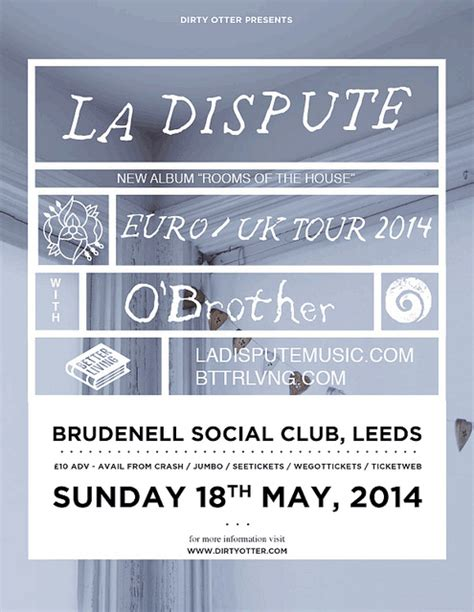 La Dispute A Letter Song Meaning La Dispute Plus Guest Support O Gig At Leeds Brudenell Social Club
