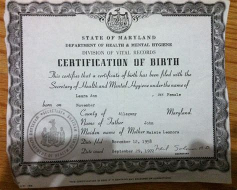 Maryland Marriage Records Maryland Birth Certificate Duplicate