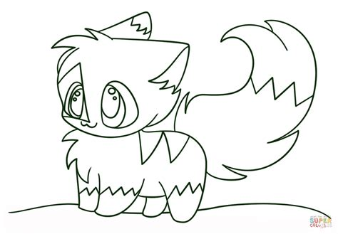 Kawaii Cat Coloring Pages | kawaii chibi kitten coloring page free printable