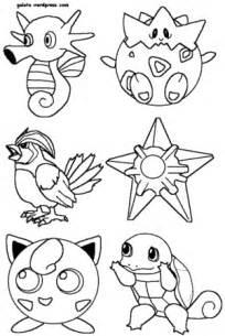 pokemon colorear pintar imprimir