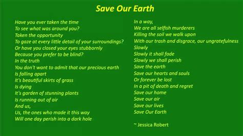 best environment poems poems poets poetry resources save the earth environmental awareness poem youtube