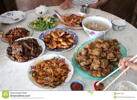 new year traditional family dinner traditional family reunion dinner stock photo