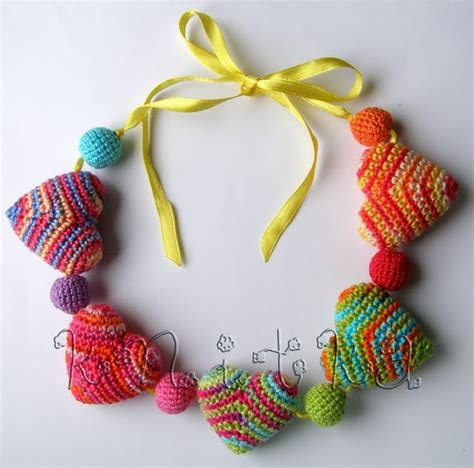 crochet pattern for heart necklace 17 best images about crochet hearts on pinterest