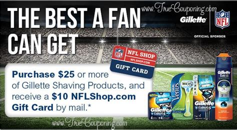 Nfl Shop Gift Card - publix quot the best a fan can get quot gillette free 10 nfl shop gift card mir valid