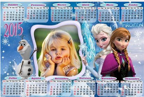 fotomontaje de calendario 2015 minions con foto hacer calendario frozen