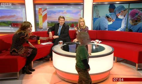 bbc breakfast sofa four year old steals the show as he runs riot on bbc