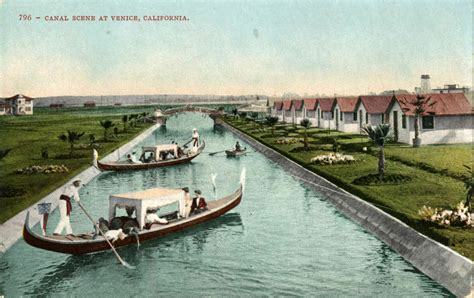s day venice canal paved streets near california s venice were once