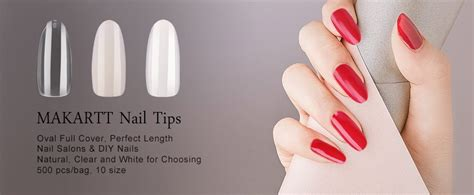 10 Tips For Nails by Makartt Oval Nails Tips Length Clear
