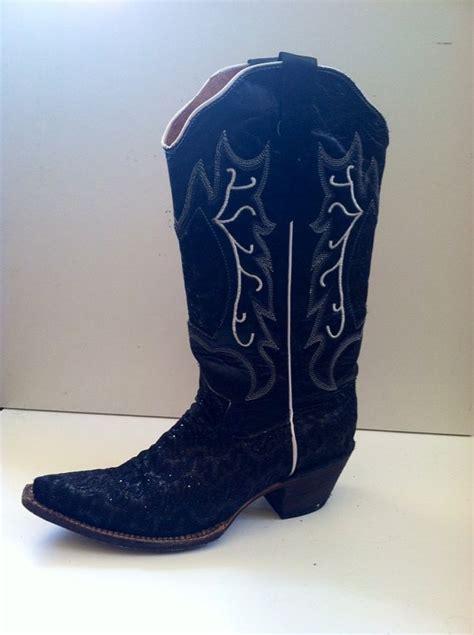 sparkly cowboy boots sparkly black cowboy boot