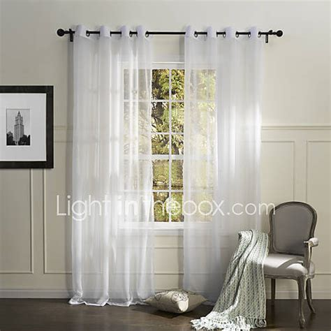 sheer bedroom curtains country one panel solid white bedroom polyester sheer