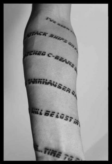 tattoo quotes around arm tatuaż ręka napisy czcionki przez four roses tattoo