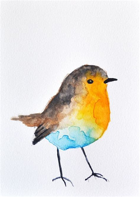 17 best images about painting ducks on pinterest old original watercolor painting colorful robin bird art