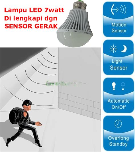 Jual Lu Led 7watt With Sensor Gerak Motion jual lu led 7 watt sensor gerak virtue shop