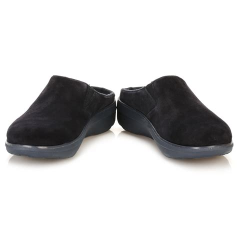 suede clogs for fitflop womens navy blue loaff suede clogs slip on shoes