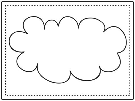 cloud template with lines 5 best images of printable cloud template cloud cut out