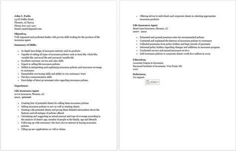 what to put in a cover letter insurance resume resume sle 1713