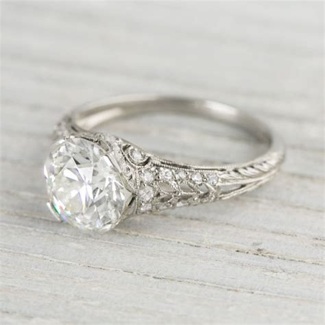 2 04 carat vintage co engagement ring