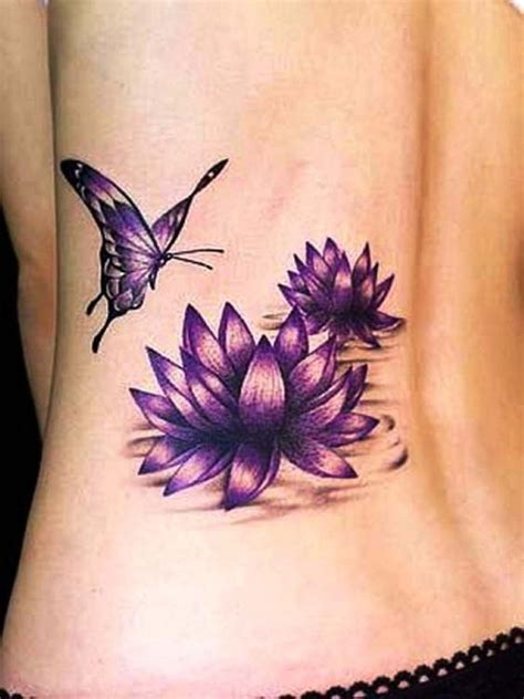 lower side tattoos lotus flower tattoos on lower back side designs