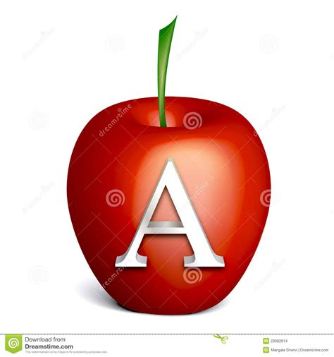 Letter A Images apple with alphabet a stock vector image of fruit