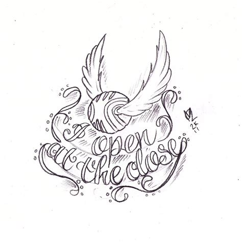 golden snitch tattoo sketch by nevermore ink on deviantart