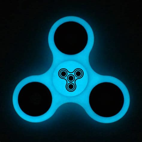 Fidget Spinner Spinner Glow In The Fidget Spin Promo glow blue logo fidget spinner uk fidget spinners