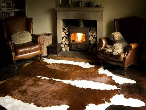 147 best eclectic cowhide decor images on cow