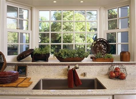 Bay Area Kitchen Cabinets bay window over the kitchen sink