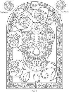 day of the dead coloring pages flowers day of the dead printables coloring pages patterns dover