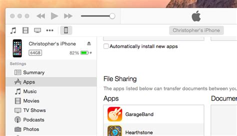 itunes file sharing section use itunes file sharing to copy files back and forth with