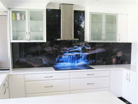 Kitchen Splash Guard Ideas printed glass splashback