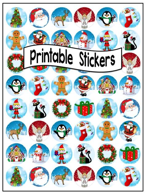 printable xmas stickers christmas stickers to print merry christmas and happy