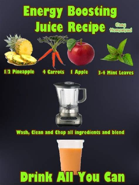 Juice Recipes For Energy And Detox by Energy Boosting Juice Recipe Juicing