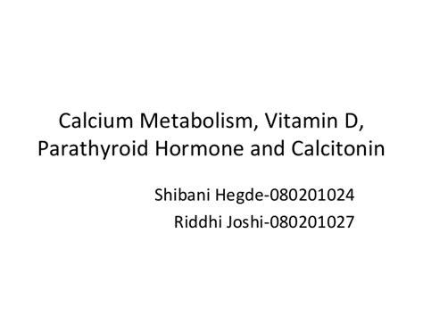 Vitamin Molinfa calcium metabolism vitamin d parathyroid hormone