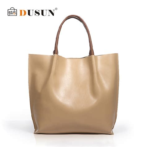 Handmade Tote Bags For Sale - dusun genuine leather bags real leather