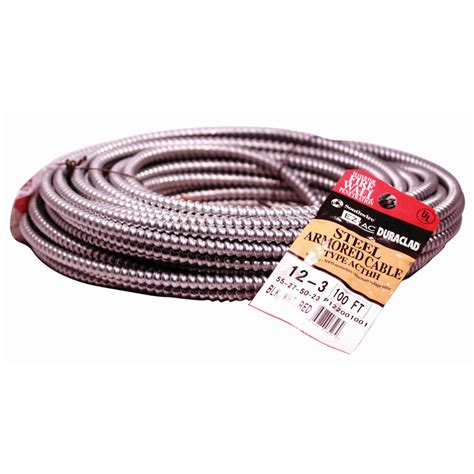 bx electrical wire shop 100 ft 12 3 steel bx cable at lowes