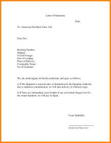 Trade Finance Letter Of Indemnity 9 Indemnity Letter Protect Letters