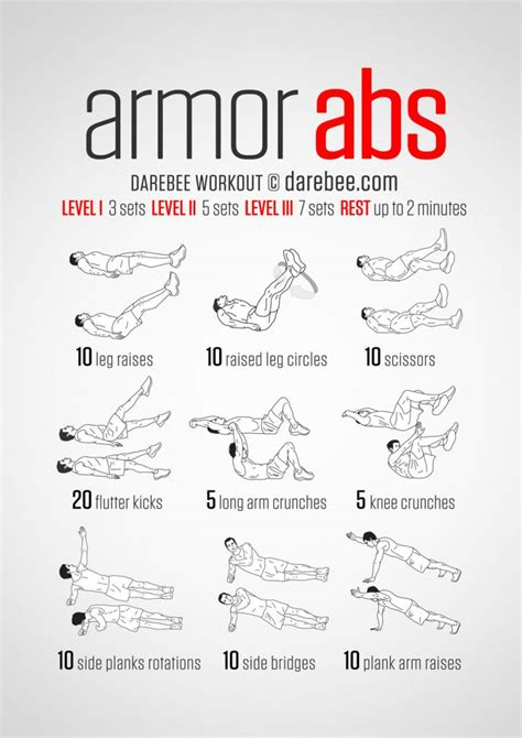 10 amazing abdominal workouts by darebee the lifevest